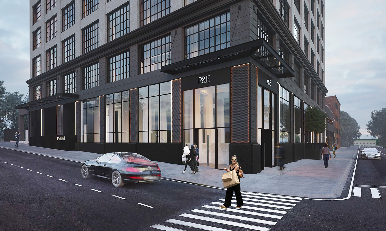 475 Kent Ave Williamsburg Mixed-Use-Retail-Exterior Architecture Meshberg Group