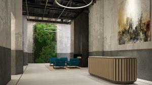 Meshberg Group 475 Kent Ave Brooklyn Lobby Design