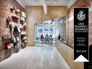 New York Property Award Winning Interior Design for Base Design NYC Headquarters by Meshberg Group