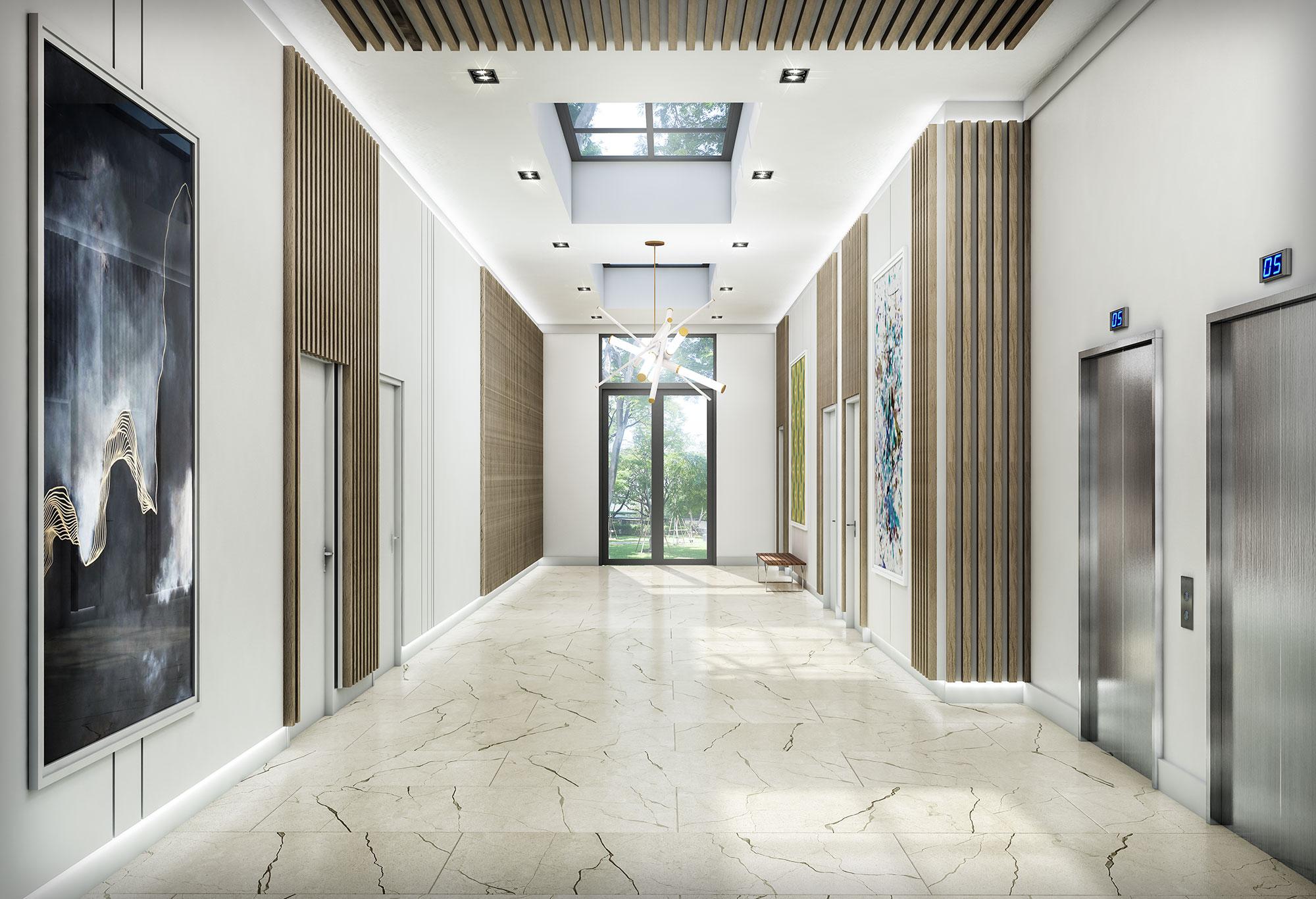 Meshberg Group Wynwood Annex-Lobby Miami Commercial Interior Design