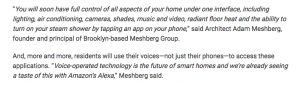 Architect Adam Meshberg in Multi Housing News on Smart Homes