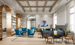 Residential Amenity Design Club Room by Meshberg Group