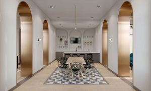 Residential Amenity Design Dining Room by Meshberg Group in Tampa Florida