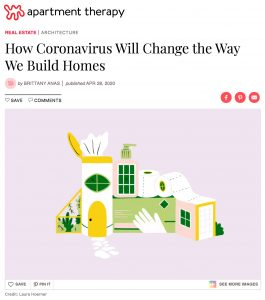 apartment therapy home design corona virus will change how homes are built Adam Meshberg