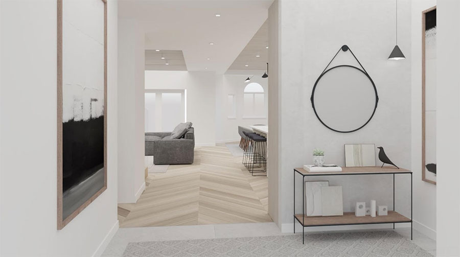 Post Covid Foyer Mudroom Design Meshberg Group