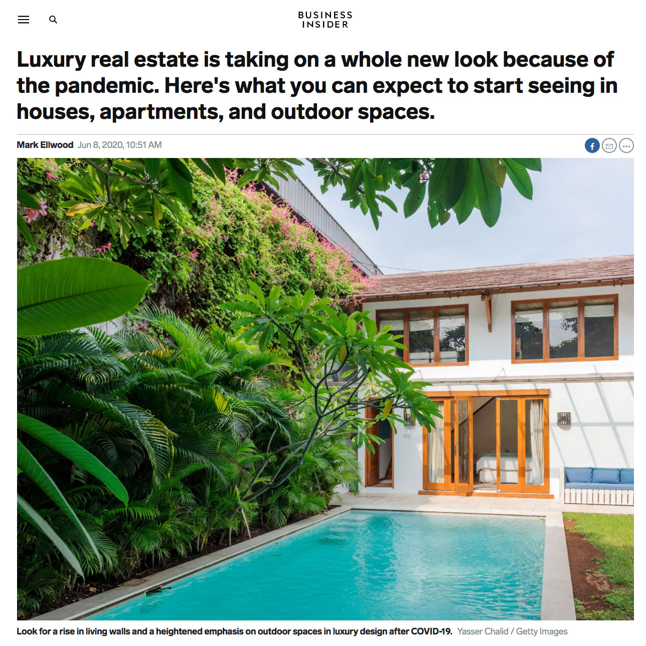 Adam Meshberg in Business Insider on Post Pandemic Changes in Luxury Interior Design and Architecture