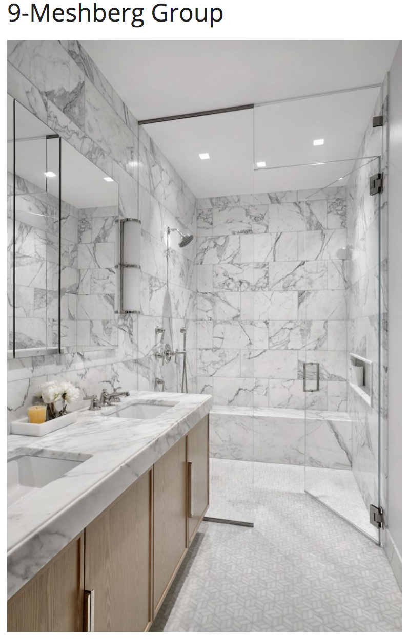 NY City Interior Designers, Get To Know The Top 20 Bathroom Designs - Meshberg Group