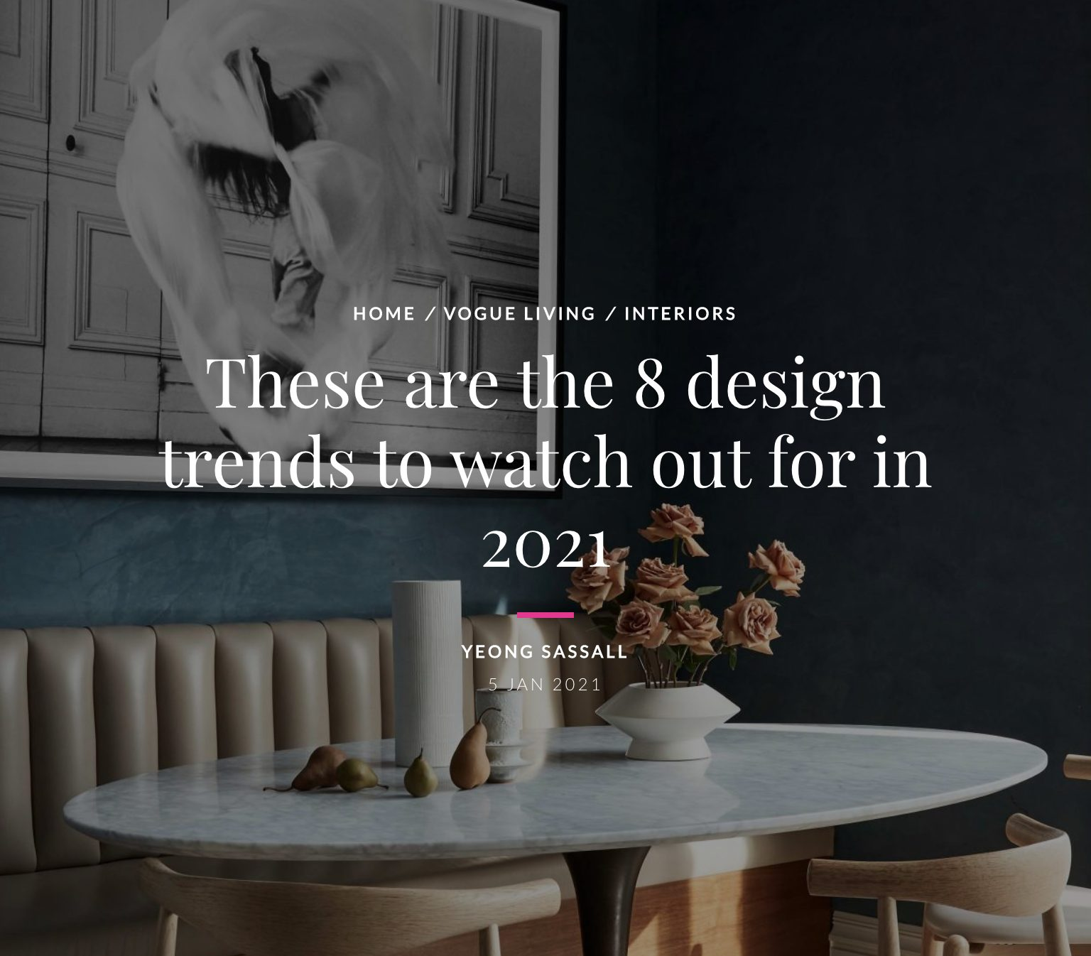Architect Adam Meshberg on Design Trends in Vogue Living