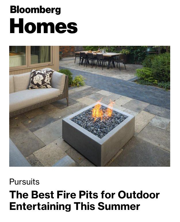 Bloomberg News Fire Pits featuring Designer Adam Meshberg